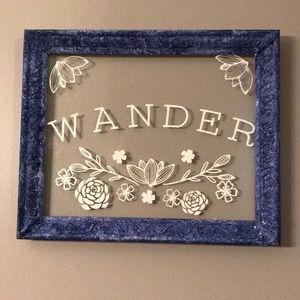 Wander frame